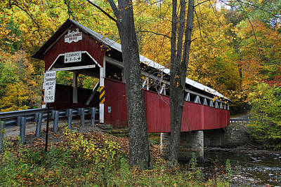 Art Print featuring the photograph Lower Humbert Covered Bridge by Dan Myers