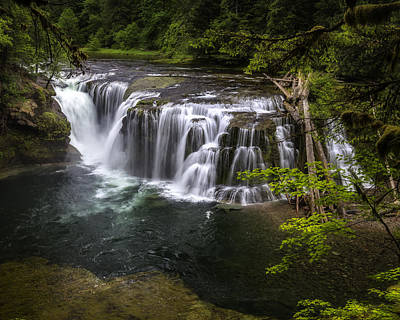 Photograph - Lower Lewis River Falls by Jon Ares