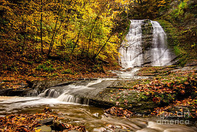 Photograph - Lower Lick Brook Falls by Brad Marzolf Photography