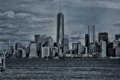 Skylines Royalty-Free and Rights-Managed Images - Lower Manhattan And The Freedom Tower by Dan Sproul