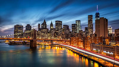 Photograph - Lower Manhattan At Dusk by Mihai Andritoiu