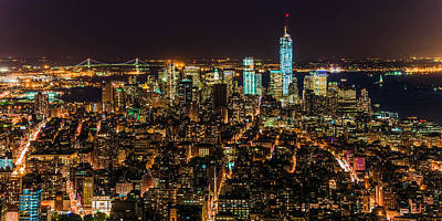 Art Print featuring the photograph Lower Manhattan At Night 2 by Chris McKenna