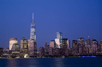 Photograph - Lower Manhattan At Sunset by Michael Dorn