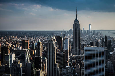 Lower Manhattan Featuring The Empire State Building Art Print by Chris McKenna
