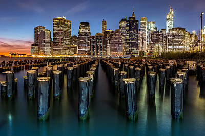 Art Print featuring the photograph Lower Manhattan by Mihai Andritoiu