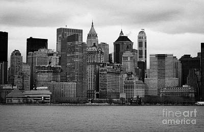 Lower Manhattan Shoreline And Skyline Waterfront Battery Park New York City Art Print by Joe Fox