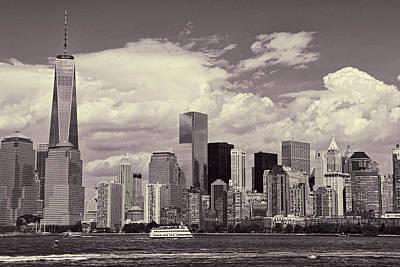 Photograph - Lower Manhattan Skyline 2 by Allen Beatty