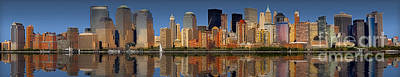 Lower Manhattan Skyline Art Print by Susan Candelario