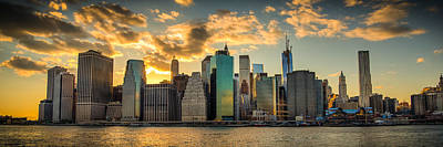 Art Print featuring the photograph Lower Manhattan Sunset 3-1 by Chris McKenna
