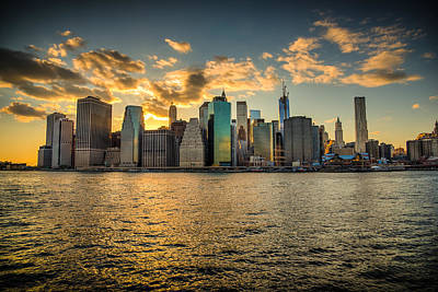 Art Print featuring the photograph Lower Manhattan Sunset by Chris McKenna