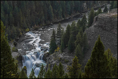 Photograph - Lower Mesa Falls by Erika Fawcett