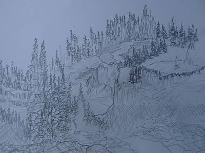 Drawing - Lower Mesa Falls by Joel Deutsch