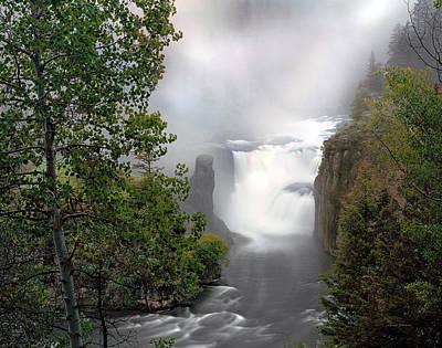 Photograph - Lower Mesa Falls by Leland D Howard
