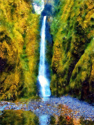 Digital Art - Lower Oneonta Falls by Kaylee Mason