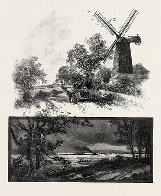 Lachine Drawing - Lower Ottawa, Old Windmill On Lachine Road by Canadian School