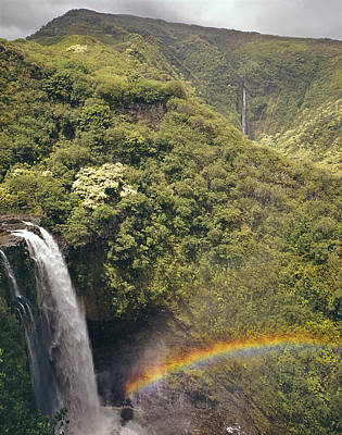 Photograph - 100714-lower Palikea Falls And Waimoku Falls  by Ed  Cooper Photography