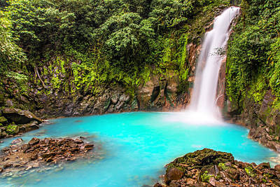 Costa Rica Photograph - Lower Rio Celeste Waterfall by Andres Leon