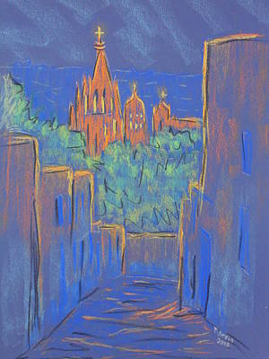 Pastel - Lower San Miguel De Allende by Marcia Meade