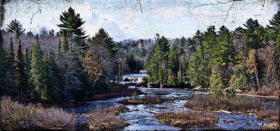 Lower Tahquamenon Falls Michigan Art Print by Evie Carrier