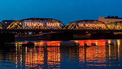 Landmarks Royalty Free Images - Lower Trenton Bridge Royalty-Free Image by Louis Dallara