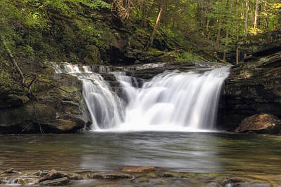 Photograph - Lower Twin Falls On Heberly Run by Gene Walls