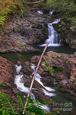 Washington Driftwood Beach Fog Wall Art - Photograph - Lower Wallace Falls - Wallace Falls State Park by Yefim Bam