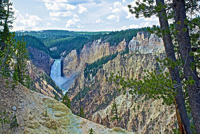Lower Yelllowstone Falls From Artist's Point On South Rim-wyoming Art Print by Ruth Hager