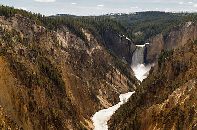 Photograph - Lower Yellowstone Canyon Falls 4 - Yellowstone National Park Wyoming by Brian Harig