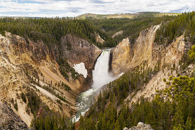 Photograph - Lower Yellowstone Canyon Falls by Brian Harig