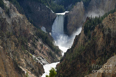 Photograph - Lower Yellowstone Falls 01 by E B Schmidt