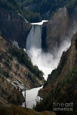 Photograph - Lower Yellowstone Falls 02 by E B Schmidt
