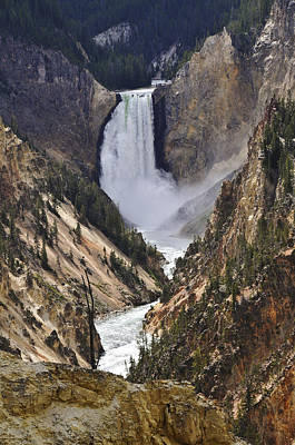 Photograph - Lower Yellowstone Falls 2 by Lee Kirchhevel