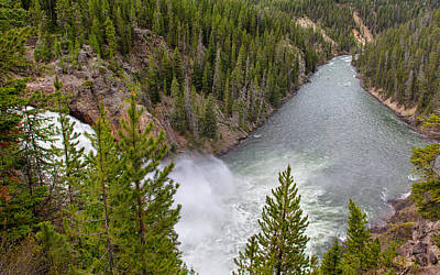 Photograph - The Majestic Yellowstone River by John M Bailey
