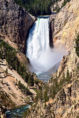 Photograph - Lower Yellowstone Falls by Stuart Gordon