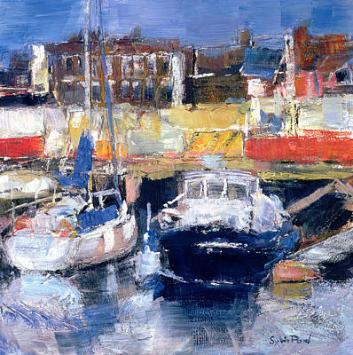 Coastal Places Painting - Lowestoft Harbour View by Sylvia Paul