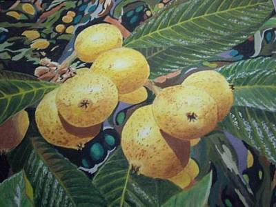 Art Print featuring the painting Lowquats 2 by Hilda and Jose Garrancho