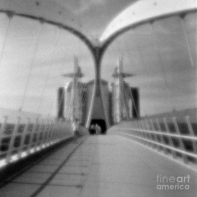 Pinhole Photograph - Lowry Bridge Salford Quays by Colin and Linda McKie