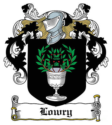 Lowry Coat Of Arms Tyrone Ireland Art Print