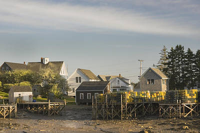 Maine Coast Photograph - Lowtide In Port Clyde Maine by Keith Webber Jr