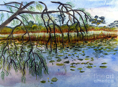 Remodernist Painting - Loxahatchee Water Lily Pond by Donna Walsh