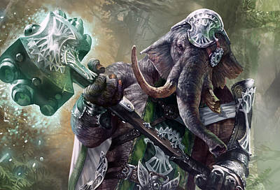 Fantasy Digital Art - Loxodon Smiter by Ryan Barger