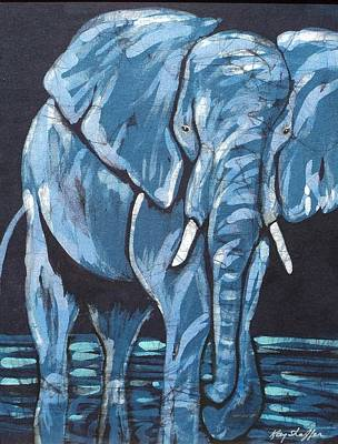 Tapestry - Textile - Loxodonta by Kay Shaffer