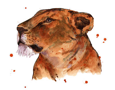 Lion Illustrations Painting - Loyal Lion by Alison Fennell