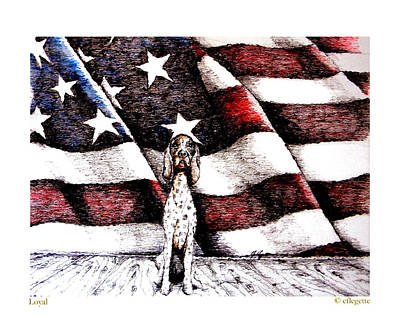 Old Glory Drawing - Loyal New Edition by C F  Legette