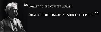 Senate Digital Art - Loyalty To Country - Mark Twain by Daniel Hagerman