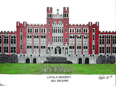 Drawing - Loyola University New Orleans by Frederic Kohli