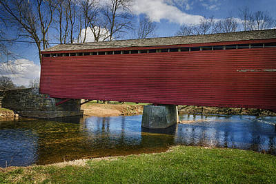 Loy Photograph - Loys Station Covered Bridge II by Joan Carroll
