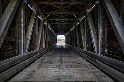 Loy Photograph - Loys Station Covered Bridge by Joan Carroll