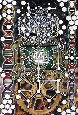 Merkaba Painting - Lsdna by Christine  Webb