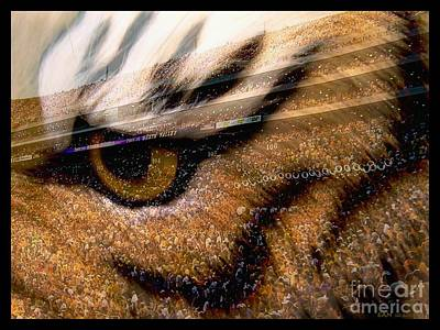Louisiana State University Digital Art - Lsu - Eye Of The Tiger by Elizabeth McTaggart